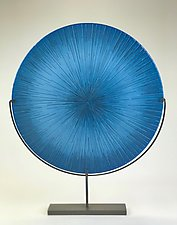 Focus Blue by Andrew Stenerson (Art Glass Sculpture)