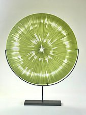 Acid Green Tie Dye by Andrew Stenerson (Glass Sculpture)