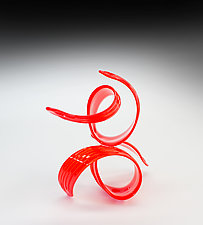 Red Ques VII 2019 by April Wagner (Art Glass Sculpture)