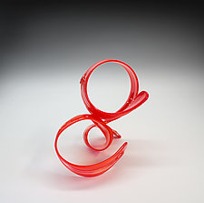 Red Ques I 2019 by April Wagner (Art Glass Sculpture)