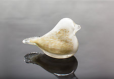 Birds of Beauty Dove by April Wagner (Art Glass Paperweight)