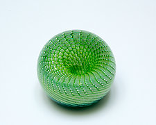 Green Rattler Paperweight by April Wagner (Art Glass Paperweight)
