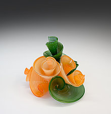 Emma's Bouquet by April Wagner (Art Glass Sculpture)