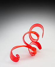 Red Ques V 2019 by April Wagner (Art Glass Sculpture)