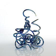 Derailed by April Wagner (Art Glass Sculpture)