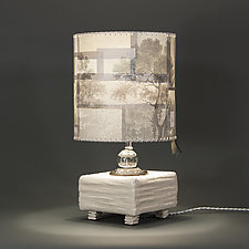 Gardenhead by Mark  Taylor and James Aarons (Mixed-Media Table Lamp)