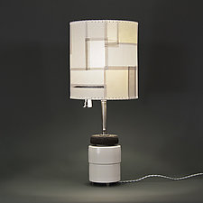 Autumn in New York by Mark  Taylor and James Aarons (Mixed-Media Table Lamp)