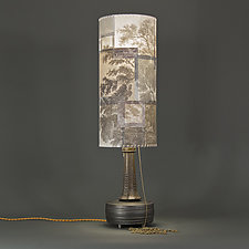 Hidden Place by Mark  Taylor and James Aarons (Mixed-Media Table Lamp)