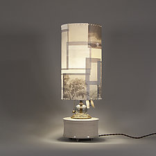 Big Sky by Mark  Taylor and James Aarons (Mixed-Media Table Lamp)