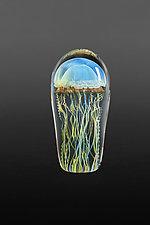 Moon Jellyfish Small by Richard Satava (Art Glass Sculpture)