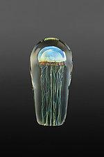 Moon Jellyfish Medium by Richard Satava (Art Glass Sculpture)