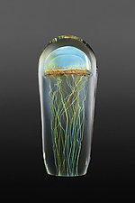 Moon Jellyfish Large by Richard Satava (Art Glass Sculpture)