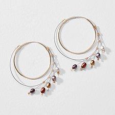 Large Spring Hoops by Meghan Patrice  Riley (Metal & Stone Earrings)