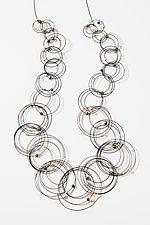 Long Vertigo Necklace by Meghan Patrice  Riley (Steel & Stone Necklace)