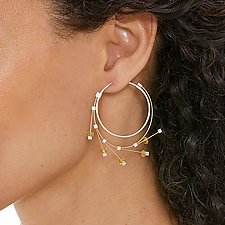 Spring Hoops by Meghan Patrice  Riley (Steel Earrings)