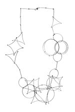 Long Shape Necklace by Meghan Patrice  Riley (Steel Necklace)