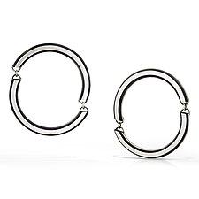 Linked Edge Earrings by Emily Shaffer (Silver Earrings)