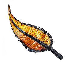 Golden Leaves by Minh Martin (Art Glass Wall Sculpture)