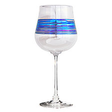 Rainbowspun Goblet by Minh Martin (Art Glass Drinkware)