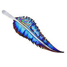Iridescent Feathers by Minh Martin (Art Glass Wall Sculpture)