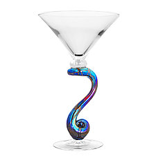 Skyliner Martini by Minh Martin (Art Glass Drinkware)