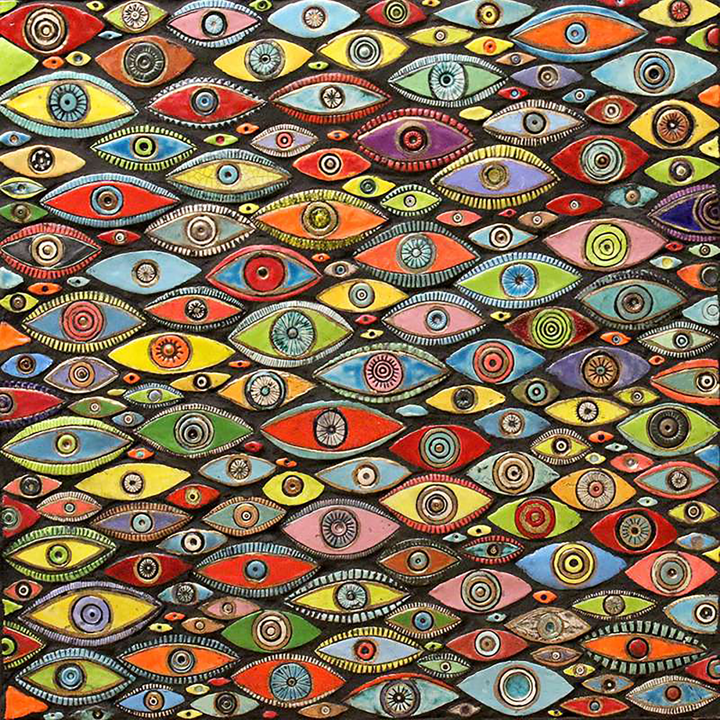 Evil Eye Mosaic by Michal Golan (Ceramic Wall Sculpture) | Artful Home