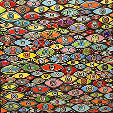 Evil Eye Mosaic by Michal Golan (Ceramic Wall Sculpture)
