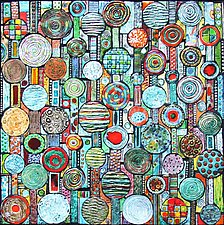 Lines and Circles by Michal Golan (Ceramic Wall Sculpture)