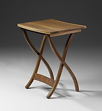 Mid-Century Folding Table by Jesse Shaw (Wood Side Table)