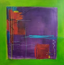 Lime Square by Nicholas Foschi (Acrylic Painting)