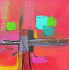 A Splash of Red Modernism 2 by Nicholas Foschi (Acrylic & Pastel Painting)