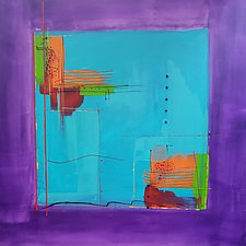 Purple Square by Nicholas Foschi (Acrylic Painting)