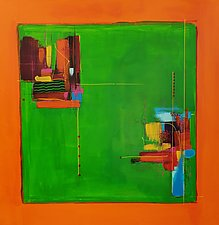 Orange Square by Nicholas Foschi (Acrylic Painting)