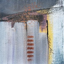Gray Layered 6 by Nicholas Foschi (Acrylic Painting)