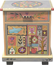 Falling Leaves Cabinet by Sticks  (Wood Cabinet)