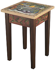 Learn to Be Still End Table by Sticks  (Wood End Table)