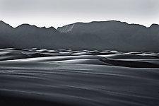 White Sands Sunset by Richard Speedy (Black & White Photograph)