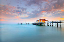 Bay Pier by Richard Speedy (Color Photograph)
