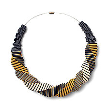 Turning Necklace No. 4 by Sophia Hu (Polyester & Stainless Steel Necklace)