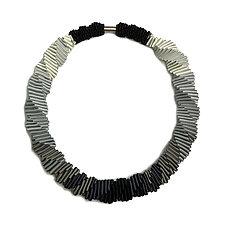 Ombre Gray Necklace by Sophia Hu (Fiber Necklace)