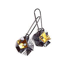 Origami Earrings #7 by Sophia Hu (Gold & Silver Earrings)