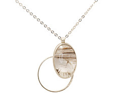 Rutilated Quartz Necklace by Ellen Ito (Silver & Stone Necklace)