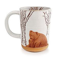 Snow Bears Mug by Chris Hudson and Shelly  Hail (Ceramic Mug)