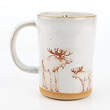 Moose Mug by Chris Hudson and Shelly  Hail (Ceramic Mug)