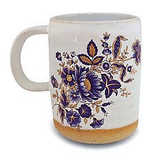 Bohemian Blue and 24k Gold Mug by Chris Hudson and Shelly  Hail (Ceramic Mug)