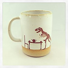 Tea Rex Mug by Chris Hudson and Shelly  Hail (Ceramic Mug)
