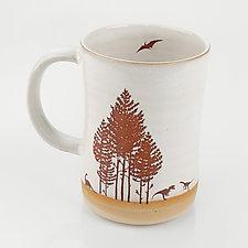 Jurassic Cup Mug by Chris Hudson and Shelly  Hail (Ceramic Mug)