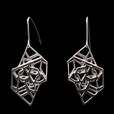 Geometric Earrings by Diana Eldreth (Silver Earrings)