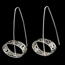 Sterling Silver Spinning Dangle Earrings by Diana Eldreth (Silver Earrings)