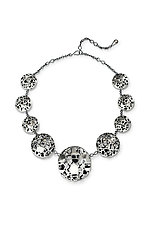 Silver Houses Statement Necklace by Diana Eldreth (Gold, Silver & Stone Necklace)